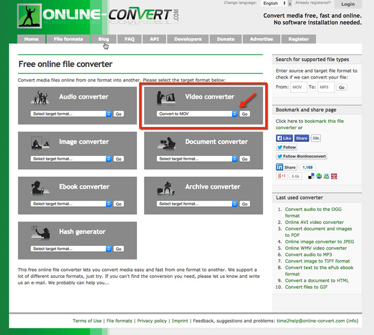 Free Video Converter - .GIF to .MOV