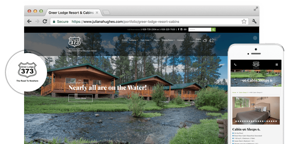 Greer Lodge Resort & Cabins - Internet Marketing Client