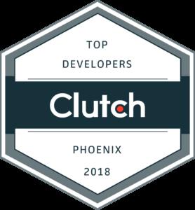 Top Phoenix, AZ Developer Award 2018, Clutch.co