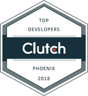 Top Phoenix, AZ Developer Award 2018, Clutch.co